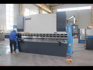 125T sheet metal bending machine 6mm, hydraulic press brake WC67Y-125T 3200 alang sa China