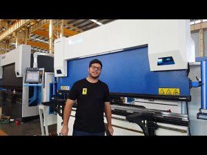 6-Axis CNC Press Brake Euro Pro B32135 uban sa Wila Clamping System pinaagi sa mga kustomer sa Australia