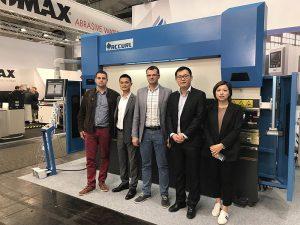 Ang Accurl miapil sa Hannover International Machine Tool Exhibition sa Germany niadtong 2017