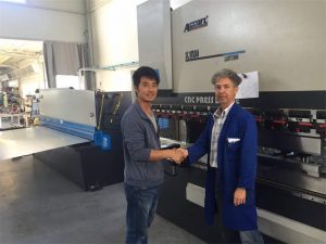Pagtan-aw sa Kliyente sa Kliyente Mahinay ang Brake Machine ug Shearing Machine sa Our Factory