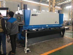 Ang hydraulic guillotine machine MS8-8 × 3200 nga may sistema nga suporta sa panid