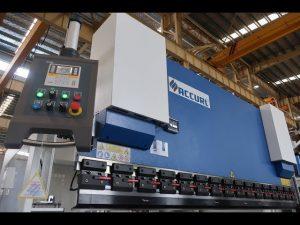 Ang hydraulic press preno MB7-100Tx3200mm uban sa manlalaban lazersafe ug ELGO P40 NC nga sistema