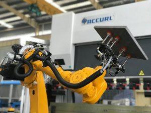 Robotic bending cell system alang sa awtomatik nga robot sa pagputol sa sheet metal