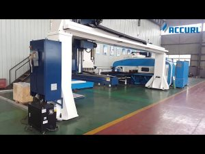 gantri style 5-axis cnc press brake robot bending / turret punch press
