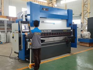 6 axis cnc hydraulic press brake lansang machine alang sa sheet metal 8000mm 1200TN